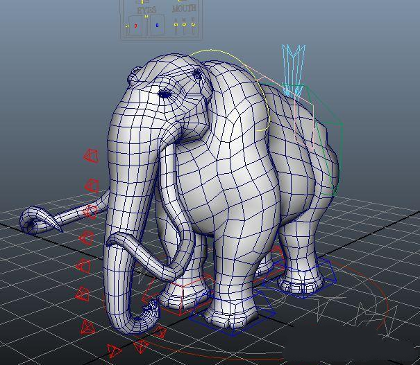 Rigged elephant 3d model