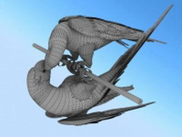 Macaw bird 3d model
