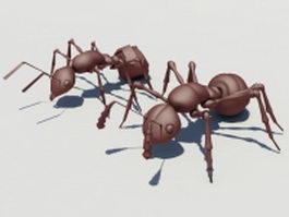 Fire ants 3d model