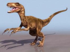 Deinonychosauria dinosaur 3d model