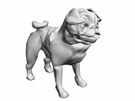 Chinese Shar Pei dog 3d model