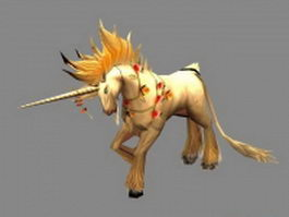 Fictional Unicorn 3d model