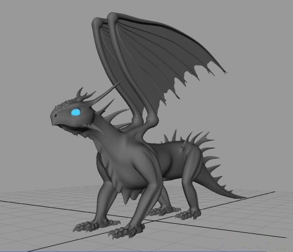 European Dragon 3d Model Object Files Free Download