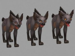 Striped hyenas 3d model