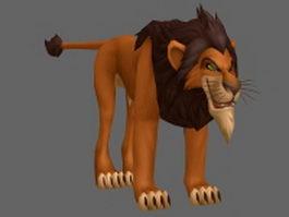 Scar Lion King 3d model