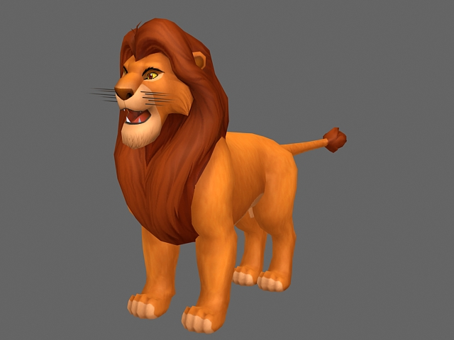 The Lion King Simba 3d Model 3ds Max Files Free Download