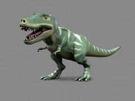 Rigged tyrannosaurus rex 3d model