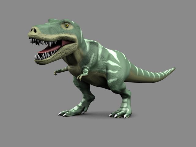 Rigged Tyrannosaurus Rex 3d Model Blender Files Free