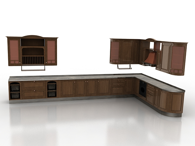 Classic Italian Kitchen Design 3d Model 3ds Max Files Free Download Modeling 19558 On Cadnav