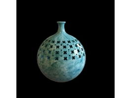 Handcrafted marble vase 3d model