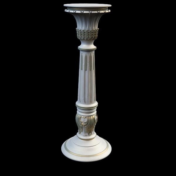 Large Pillar Vase 3d Model 3ds Max Files Free Download