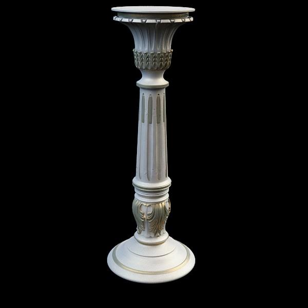 Large Pillar Vase 3d Model 3ds Max Files Free Download Modeling