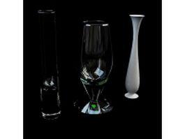 Tall vase sets 3d model