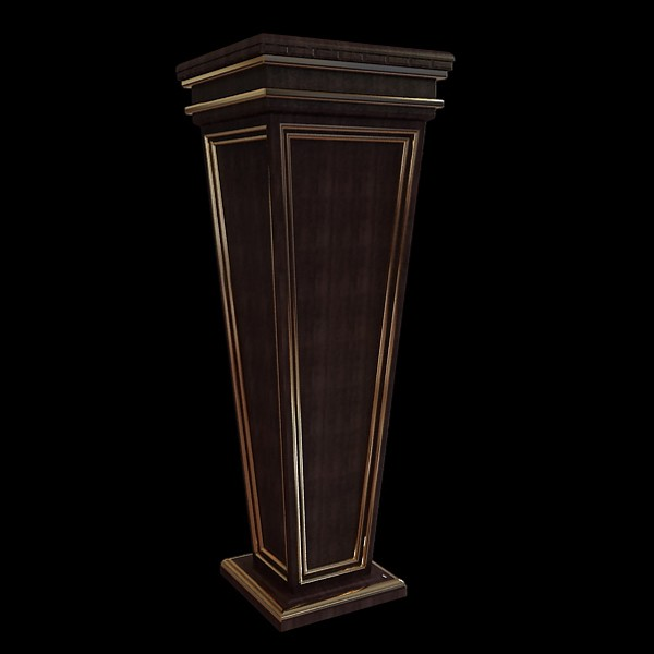 Square Wood Vase Stand 3d Model 3ds Max Files Free Download