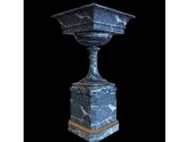 Marble garden urn 3d model