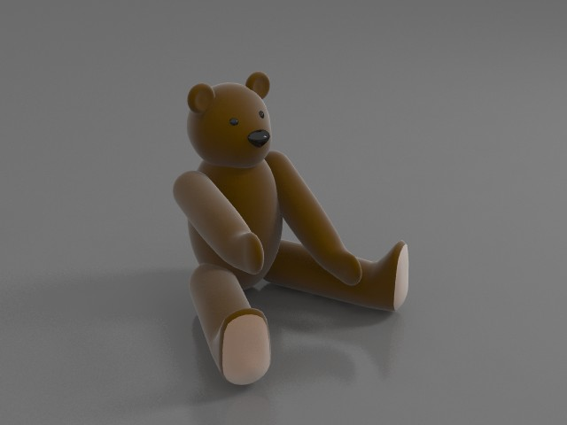 Teddy Bear Toy 3d Model 3ds Max Files Free Download