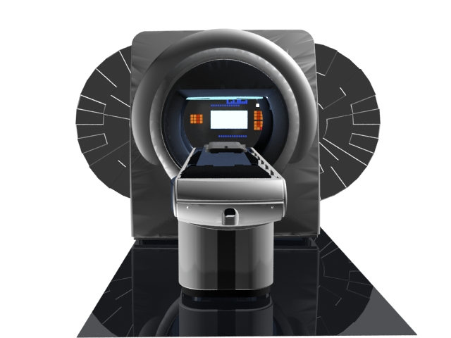 CT scanner equipment 3d rendering