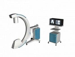 Medical imaging X-ray machine 3d model