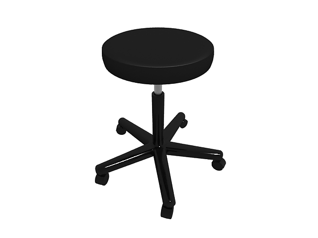 Medical task stool 3d rendering
