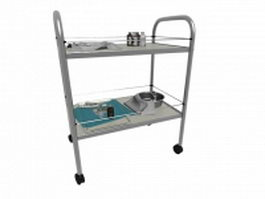 Hospital medication cart 3d model