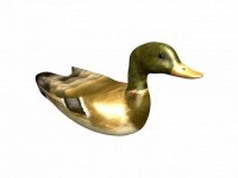 Mallard duck 3d model