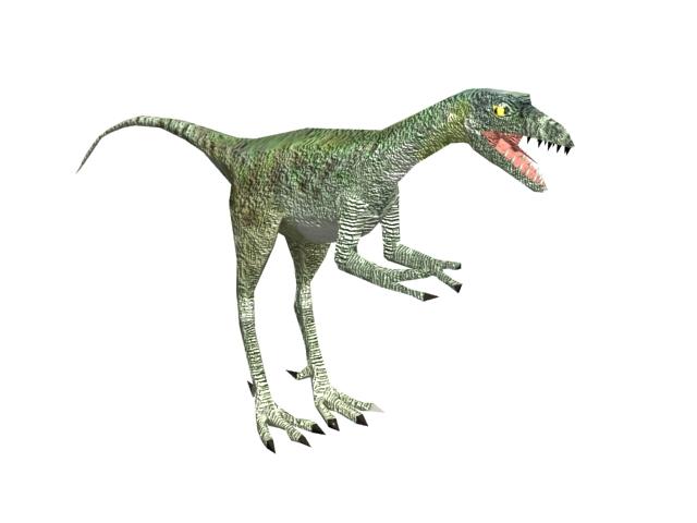 Compsognathus Dinosaur 3d Model 3ds Max Files Free