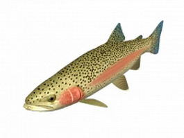 Steelhead trout 3d model