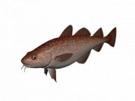 Pacific cod fish 3d model