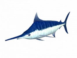 Blue marlin fish 3d model