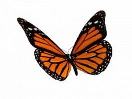 Yellow butterfly 3d model