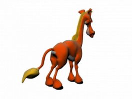 Cartoon pony horse 3d model