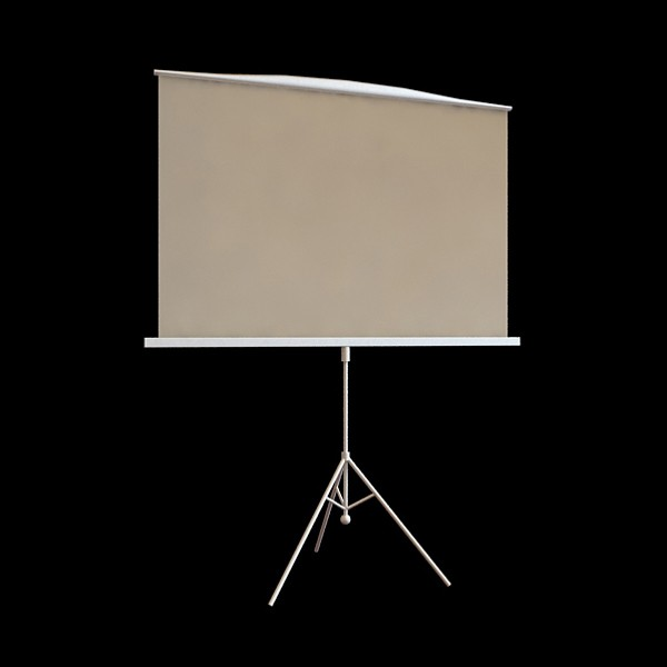 Projection Screen 3d Model 3ds Max Files Free Download