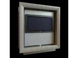 Wall hung TV 3d model
