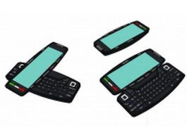 Qwerty keyboard smartphone 3d preview