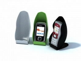 Mobile phones and phone holders 3d model