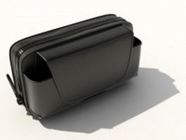 Black cell phone holster 3d model