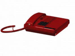 Red phone 3d model