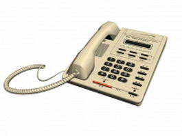 Business telephone 3d model