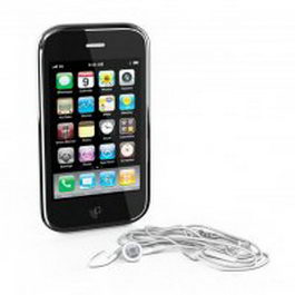iPhone 5 with earphone 3d model