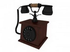 Vintage style telephone 3d model