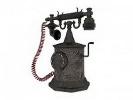 Antique desk phone 3d model