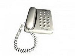 White telephone 3d model