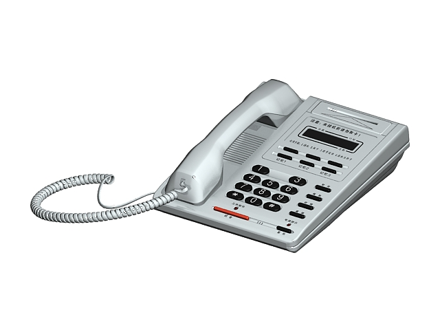 White office telephone 3d model 3ds max files free download ...