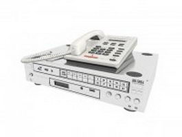 Telephone and Dvd player 3d model
