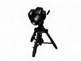 Camera on a tripod 3d model