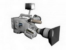 Professional TV camcorder 3d model
