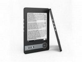 E-book reader 3d model