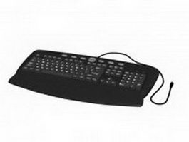 104-key PC US English QWERTY keyboard 3d model
