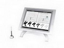 Wacom graphics tablet and pen 3d model