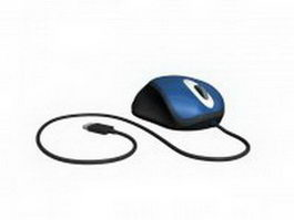 Scroll wheel computer mouse 3d model